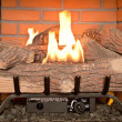Fireplace Gas — Stock Photo