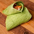 Stock Photo: Buffalo Chicken Wrap