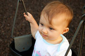 Baby Swing Stare Straight — Stock Photo
