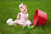 Easter Baby Spill Eat — Stock Photo