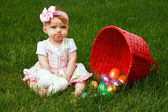 Easter Baby Spill Pout — Stock Photo