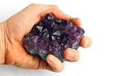 Crystal Rock Hold — Stock Photo