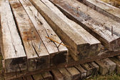 Railroad Ties Top Front — Stock Photo