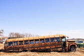 Junk Yard Bus — Stock Photo