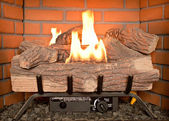 Fireplace Gas — Stock Photo