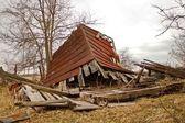 折叠的谷仓前面 — 图库照片