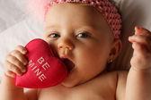 Baby Heart Eat — Stock Photo