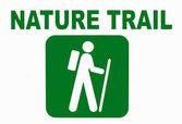 Cartello del sentiero natura — Foto Stock
