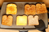 Cooking Grilled Cheese — Stock Photo