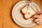 Buttered Bread — Stock Photo