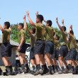 Asian army recruits — Foto Stock
