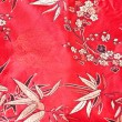 Traditional Chinese table cloth with bamboo design - Stock Photo
