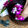 Stock Photo: Feminine feet in foot spa