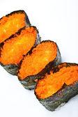 Japonské sushi s rybí jikry — Stock fotografie