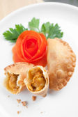 Asian curry puff with potato filling — Stock Photo