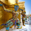 Grand mythical figure from the buddhist temple of Bangkok - Stock Photo
