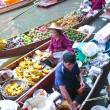 Stock Photo: BANGKOK THAILAND - JAN 20. Busy sunday morning at Damnoen Saduak floating market, Bangkok Thailand J20 , 2010
