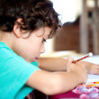Boy doing his homework at home — Stock Photo #7153669