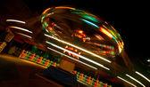 Playground ride at night time — Stock Photo