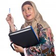 Beautiful mature Muslim woman in thinking pose — Stock Photo