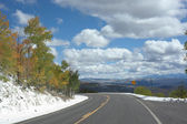Highway 65 over the Grand Mesa — Stock Photo