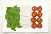 Food flag of Italy — Stock Photo
