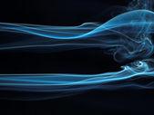 Abstrakt rök isolerade på svart — Stockfoto