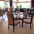 Cafe with tables and chairs — Stock Photo #7509093