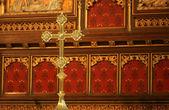Cruz de ouro religioso — Fotografia Stock