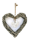 Wooden heart decoration — Stock Photo