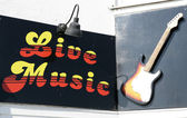 Live music sign — Stock Photo
