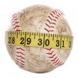 Softball with tape measure — Stock Photo