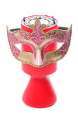 Charity donation and masquerade mask — Stock Photo