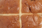 Hot cross bun background — Stockfoto