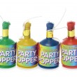 Party poppers — Stock Photo