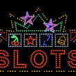 Stock Photo: Slots gambling neon sign