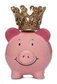 Piggybank with crown — Stock Photo