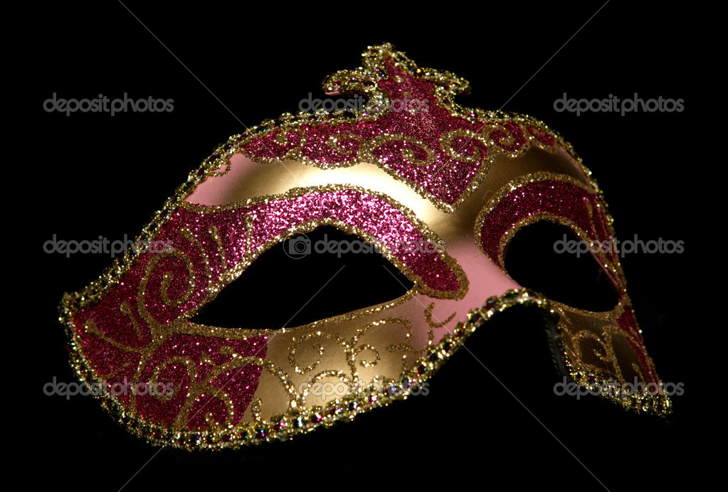 Masquerade mask studio cutout on black background — Stock Photo #7157369