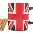 British tea mug and biscuits — Stock Photo #7162838