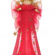 Red angel christmas decoration — Stock Photo