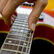 Playing guitar close-up — Stock Photo