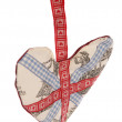 Union jack fabric Heart decoration — Stock Photo