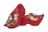 Red dutch clogs — Stock Photo