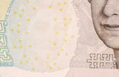 Five pound note watermark — Stock Photo