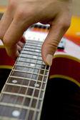 Playing guitar close-up — Stock Photo
