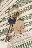 American new house keys — Stock Photo