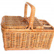 Traditional Wicker picnic basket - Stock Photo
