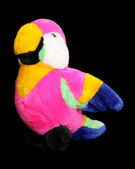1980s lumo parrot soft toy — Stock Photo