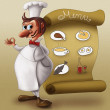 Royalty-Free Stock Photo: Chef in front of menu