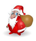 Santa Claus with bag — Stock Vector